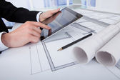 Architect Using Digital Tablet — Stock Photo