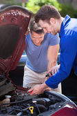 Car Owner With Mechanic — Stock Photo
