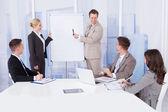 Businessman Giving Presentationc — Stock Photo