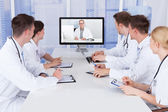 Doctors Having Video Conference — Stock Photo