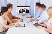 Businesspeople in conference room — Stock Photo