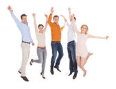 Friends Jumping — Stock Photo