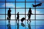 People At Airport Terminal — Stock Photo