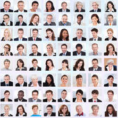 Collage Of Business People Smiling — Foto de Stock