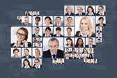 Collage Of Business People — Stock Photo