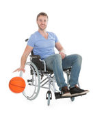 Basketball Player On Wheelchair — Stock Photo