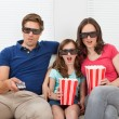Family Watching 3D Movie — Stockfoto #50861785
