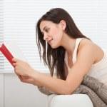 Woman Reading Book — Stock Photo #50863395