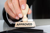 Hand  With Approved Sign — Stock Photo