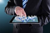 Businessman Using Digital — Stock Photo