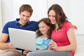 Family Shopping Online — Stock Photo