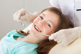 Happy Girl at dentist — Stock Photo