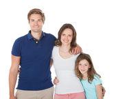 Portret van glimlachen familie — Stockfoto