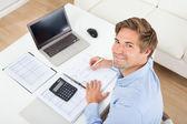 Businessman Calculating Tax — Stock Photo
