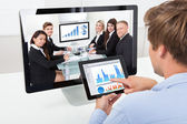 Businessman Analyzing Graphs — Stock Photo