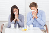 Couple Suffering From Cold — Stock Photo