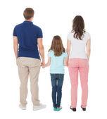 Family backs — Stock Photo