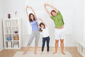 Yoga Family — Stock Photo