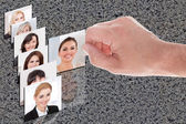 Hand Choosing Candidate For The Job — Stock Photo