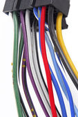 Car audio system wiring cable — Stock Photo