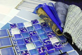 Repair decoration planning upholstery tiles — Stock Photo