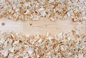 Wooden shavings chips texture — Stock Photo