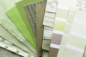 Tapestry and upholstery color selection — Stock Photo