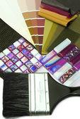 Interior decoration renovation planning — Fotografia Stock