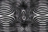 Zwart-wit ronde gestreepte stof textuur — Stockfoto