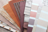 Upholstery tapestry color selection — Stockfoto