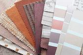 Wybór kolorów tkaniny tapicerskie — Zdjęcie stockowe
