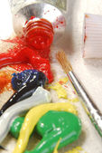 Oil paint mixing — Stock Photo