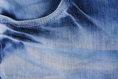 青いデニムのジーンズのポケット — ストック写真