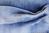 Blå denim jeans konsistens — Stockfoto