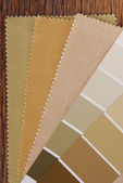 Paint and material color choosing for interior decoration — Foto de Stock