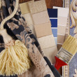 Material color choosing for interior decoration — Stock Photo #30919891