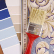 Color paint and wallpaper choice — Stock Photo