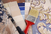 Material color choosing for interior decoration — Stock Photo