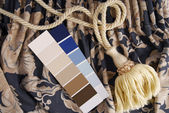 Curtain and color choice for interior — Stock Photo