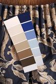 Elección de la cortina y el color para interior — Foto de Stock