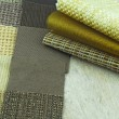 Upholstery and tapestry color selection for interior — Photo