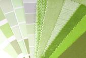 выбор обивки, занавес и цвета для интерьера — Стоковое фото