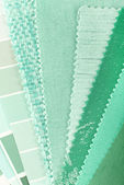 Mint color choice for interior decoration — Stock Photo