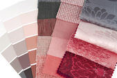 Upholstery tapestry and curtain color selection for interior — Stock Photo