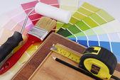 Interior decoration repair improvement planning — Stock Photo