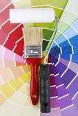 颜色指南取样器和工具 — 图库照片