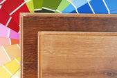 Laminate and color chart — Stock Photo