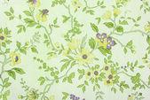 Tapeter gamla blommiga konsistens — Stockfoto