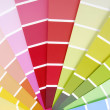 Color chart guide sampler — Stock Photo