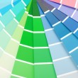 Color chart guide sampler — 图库照片